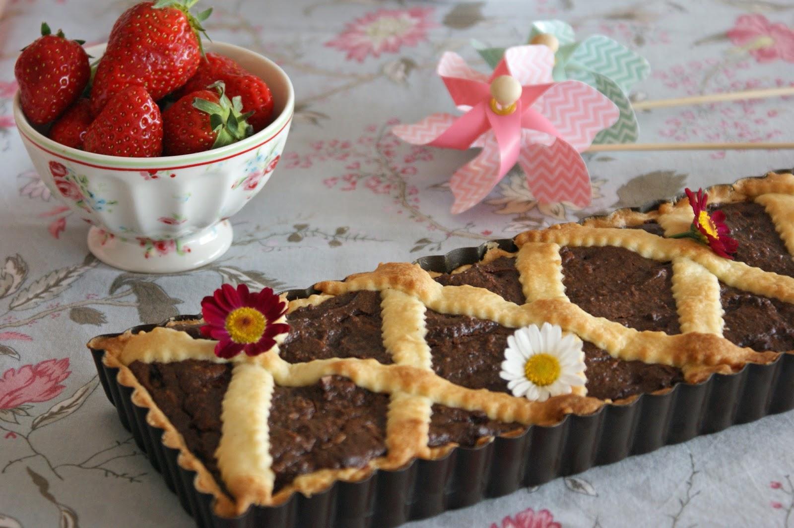 tarte au chocolat ricotta et noix de p can recettes thomson. Black Bedroom Furniture Sets. Home Design Ideas